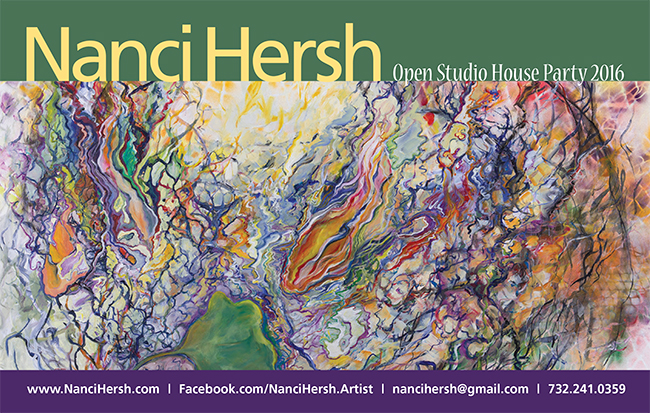 Postcard for Nanci Hersh's Open Studio House Party