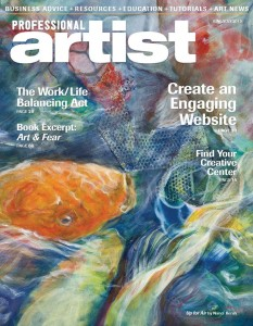 Profession Artist Magazine June/July 2015, cover image by Nanci Hersh