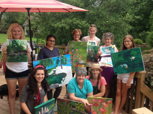 Group shot of Painting by the Pond 2015 participants on Day 5