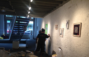 Installing the Art of Peace 2015 at The Pegge Hopper Gallery, Honolulu, HI