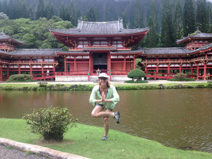 Photo of Nanci at Byodo-In Temple