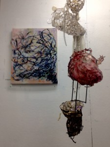 Mixed media painting and sculpture by NanciHersh