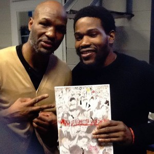 Bernard Hopkins, retired middleweight boxer with D. Marque.