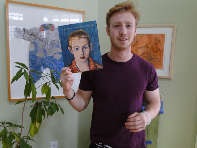 Griffin with his John Bain original