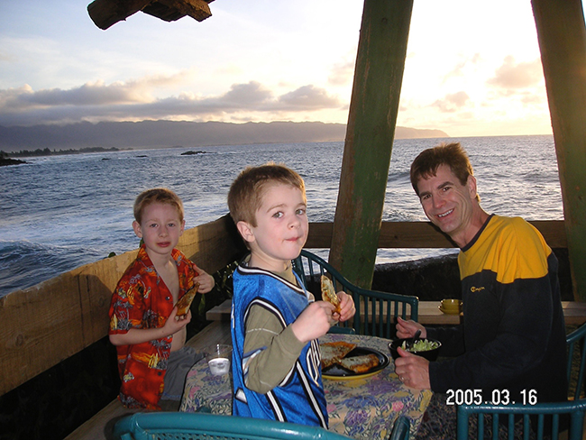 A sunset dinner at Waimea