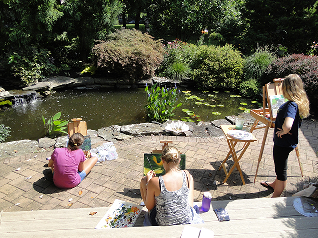Painting by the Pond 2016 with Nanci Hersh