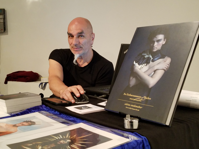Adrian with his book, An Embarrassment of Riches Photo: Nadira Husain