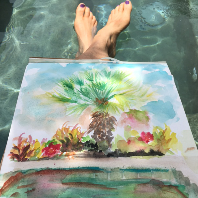 toes and watercolor on Kiaway