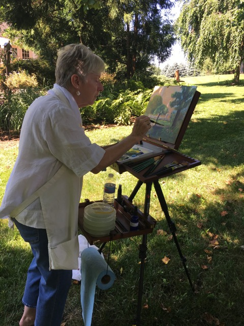 Painting by the Pond 2017- Deena