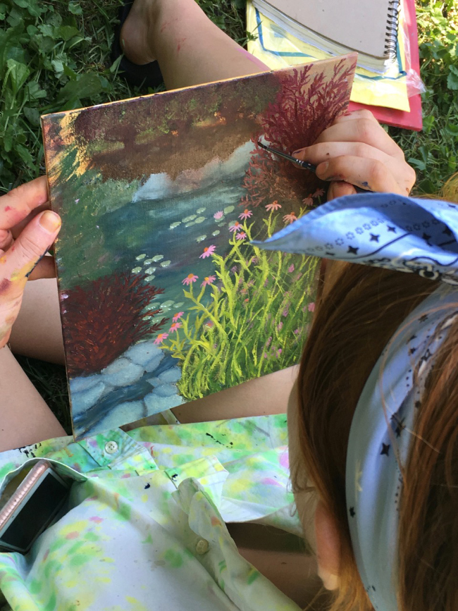 Painting by the Pond 2017- Kyra