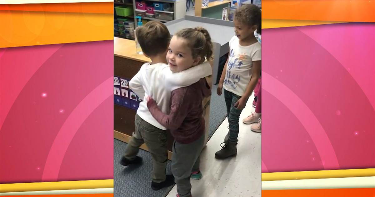 Now this is the way to start your day. Sending everyone a virtual hug!  tps://www.today.com/video/hugs-and-high-fives-the-cute-way-this-pre-k-class-greets-each-other-each-day-1362096195520?v=railb&